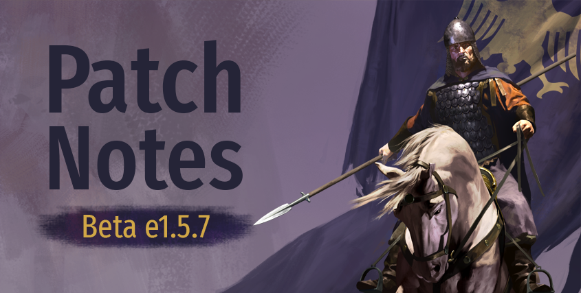 Beta Patch Notes e1.5.7