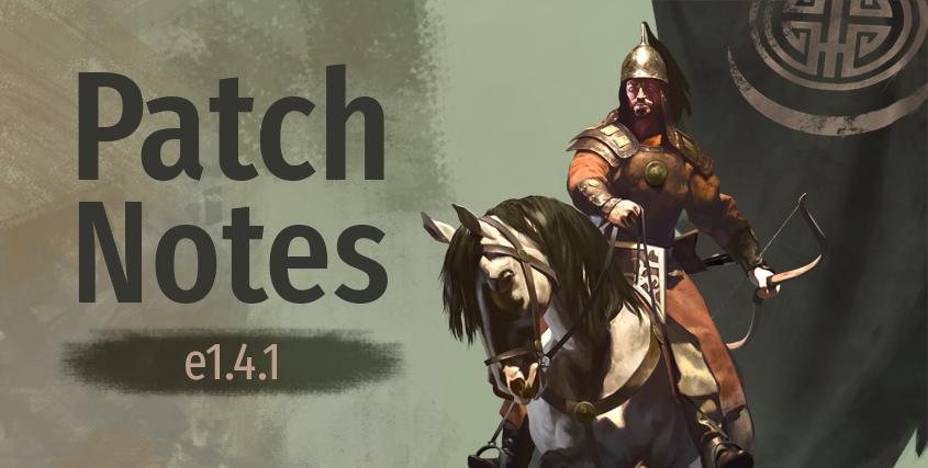 Notas del parche versión 1.41 para Mount and Blade 2: Bannerlord Patchnotes-e1.4.1